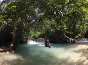 Rope Swing and waterfalls