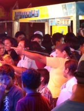 woman playing game at fair