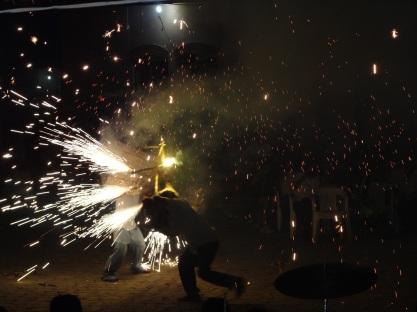 sparkling bull fight