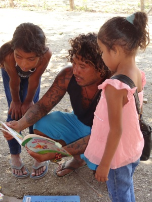 reading session with kids