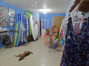 Surf boards for lessons at Zicazteca Surf School
