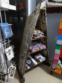 fishing boat shelf at Zicazteca Surf School