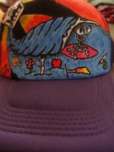 hand painted hat Julio Soto