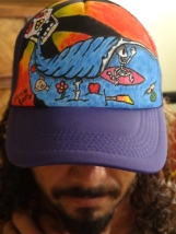 Julio Soto hand painted hat
