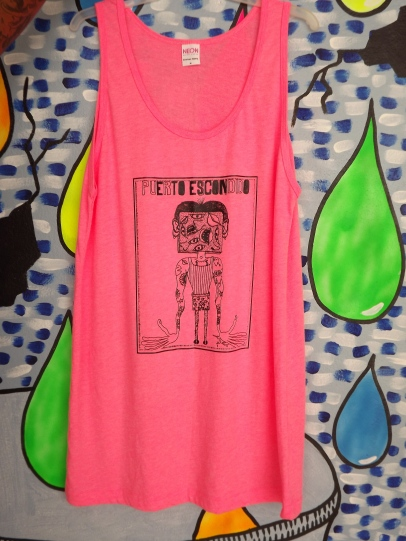 tank by Julio, neon pink