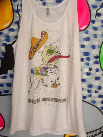 tank by julio, white DTG print