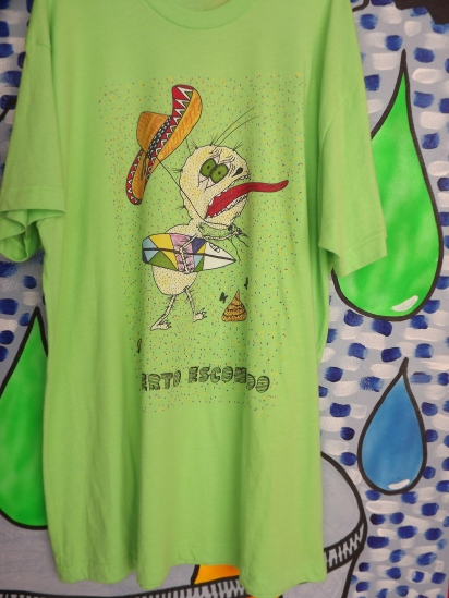 shirt by Julio, neon green, DTG print