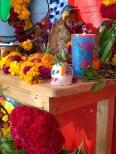 calavera de azucar and candles