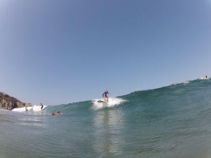 dropping in la punta Zicazteca Surf School