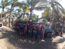 group surf lesson with Julio and Motor Zicazteca Surf School