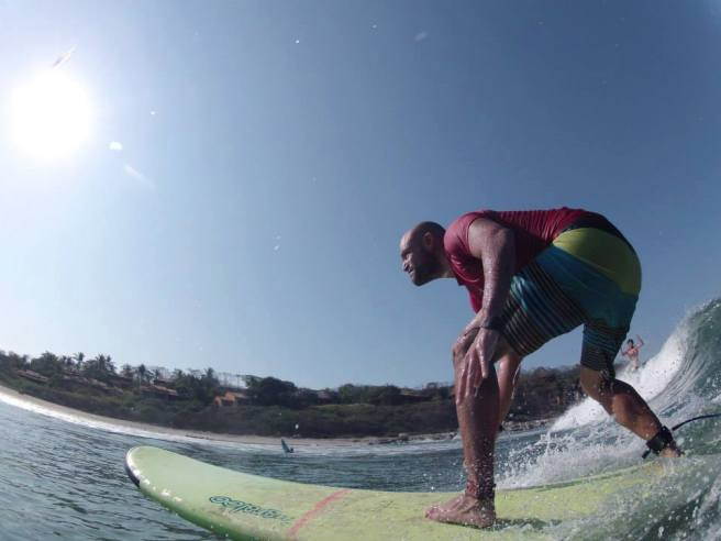 gustavo shredding with Zicazteca Surf School