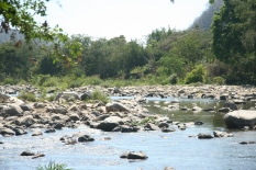 The river leading to Hot Springs