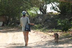 best friends on a walk