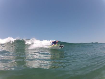 steve carving with Zicazteca Surf School